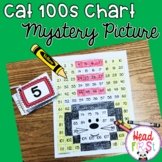 Cat 100s Hundreds Chart Mystery Picture FUN Math Center