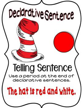 Cat in the Hat 4 sentence posters