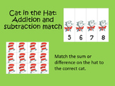 Cat in the Hat: Addition and Subtraction Match