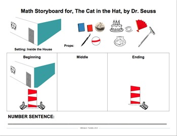 Cat in the Hat-Based Subtraction Story Board Workshop Activity