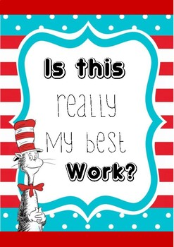 Cat in the Hat Growth Mindset Posters