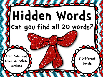 Cat in the Hat Hidden Sight Words