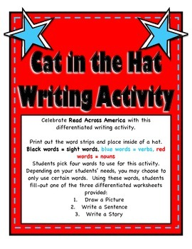 Cat in the Hat Inspired Writing Activity