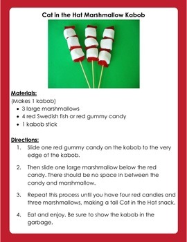 Cat in the Hat Kabob Snack: FREE Dr. Seuss Activity