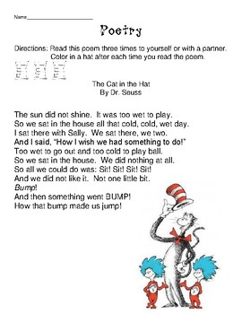 Cat in the Hat Poetry Station