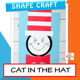 Cat in the Hat  Craft - Shape Craft - Dr Seuss Craft