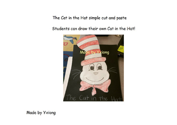 Cat in the Hat Simple cut and paste
