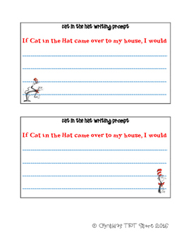 Cat in the Hat Writing Activity