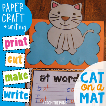 Word Families Craftivity - Cat on a Mat - Paper Craft and Writing