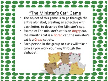 Cat on a Mat Adjectives and Nouns Literacy Centers Activities