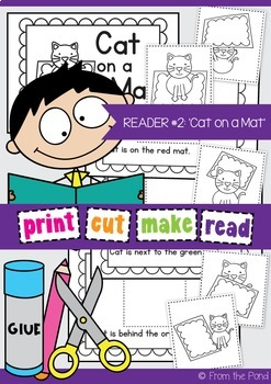 Cat on a Mat Printable Reader - Print Cut Make and READ