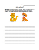 Cat or Dog Opinion Activity