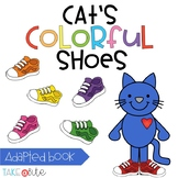 Cat's Colorful Shoes - an interactive color book and clip cards