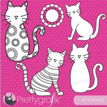 Cat stamps commercial use, vector graphics, images - DS400