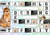 Cat themed alphabet / grammar Board Game