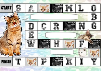 Cat themed alphabet / grammar Board Game