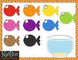 Cat wants Colorful Fish Clip-Art