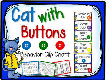 Cat with Buttons Behavior Clip Chart