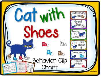 Cat with Shoes Behavior Clip Chart