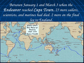 Catain Cook,  1st Voyage of Discovery