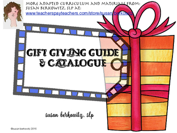 Catalogue and Gift Giving Guide for SLPs and Special Education Teachers