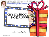 Catalogue and Gift Giving Guide for SLPs and Special Educa