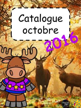 Catalogue octobre - 2016