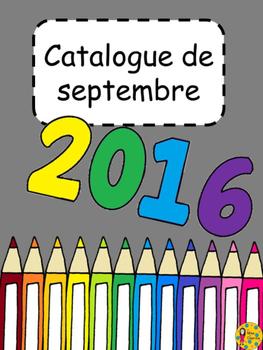 Catalogue septembre 2016