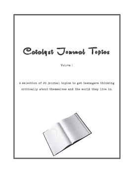 Catalyst Journals: 20 Journal Topics