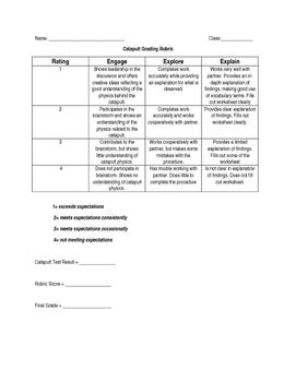 Catapult Challenge - Science/Engineering