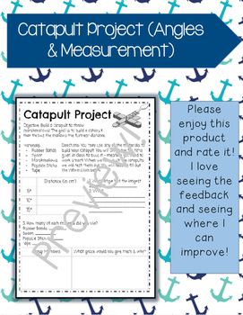 Catapult Project (Angles & Measurement)