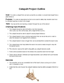 Catapult Project Requirements and Safety Rules