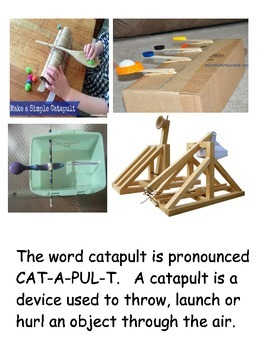 Catapult and Force Book with science experiements