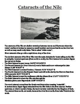 Cataracts of the Nile Handout