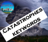 Catastrophes Keywords with Word Wall Cutouts (with & witho