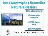 Catastrophes Naturelles - Natural Disasters - French Taboo Game
