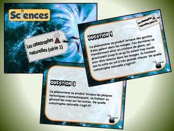 Catastrophes naturelles, série 1 (cartes à tâches) (Sciences)