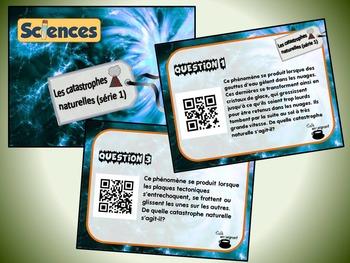 Catastrophes naturelles, série 1 (cartes à tâches) (Sciences) (codes QR)