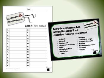 Catastrophes naturelles, série 2 (cartes à tâches) (Sciences) (codes QR)