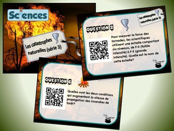 Catastrophes naturelles, série 3 (cartes à tâches) (Sciences) (codes QR)