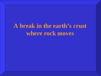 Catastrophic Event Unit Jeopardy Review Game