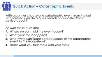 Catastrophic Events Complete 5E Lesson Plan