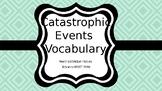 Catastrophic Events Vocabulary