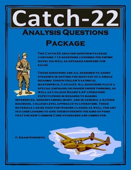 Catch-22 Analysis Question Package