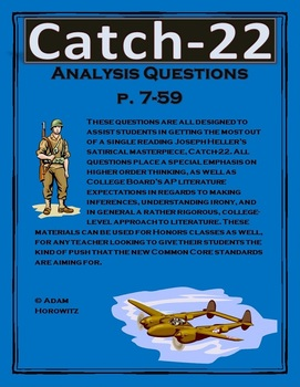 Catch-22 Analysis Questions Chp. 1-6, p. 7-59
