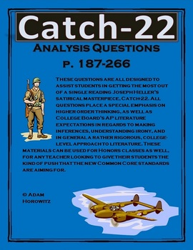 Catch-22 Analysis Questions, Chp. 19-24, p. 187-266