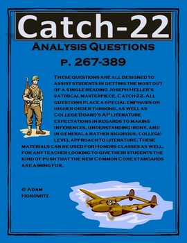 Catch-22 Analysis Questions, Chp. 25-36, p. 267-389