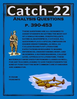 Catch-22 Analysis Questions, Chp. 37-42, p. 390-453