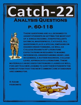 Catch-22 Analysis Questions Chp. 7-11, p. 60-118