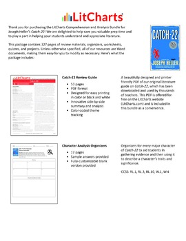 Catch-22 – Comprehension and Analysis Bundle